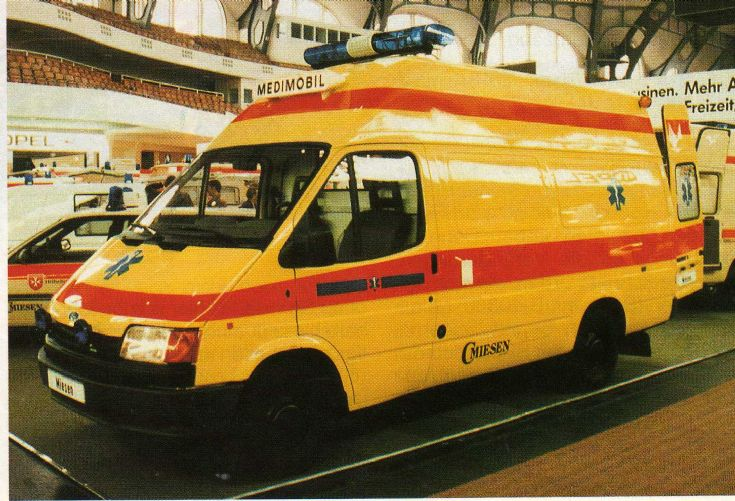Ford Transit - Miesen yellow ambulance
