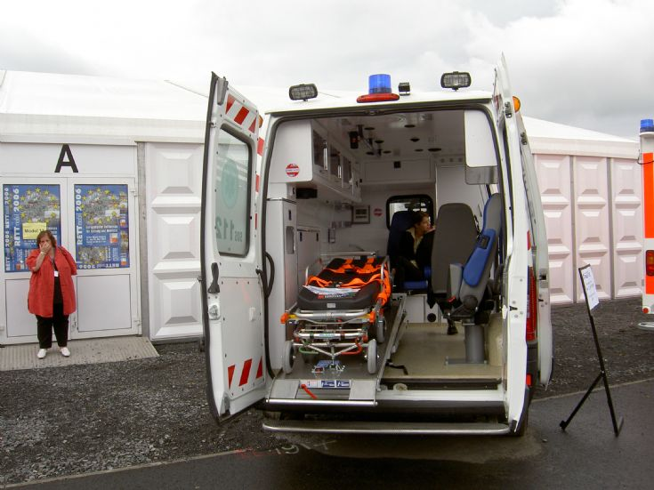 Ambulance Photos - Interior view of a Fiat Ducato ambulance