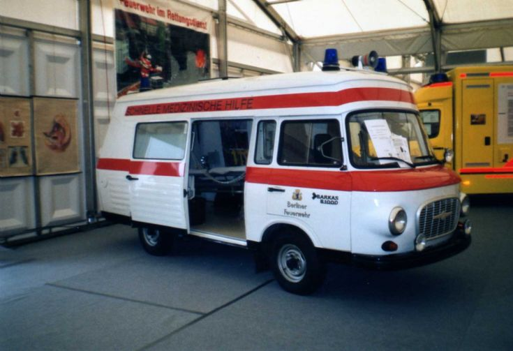 Former East German Barkas B1000 ambulance