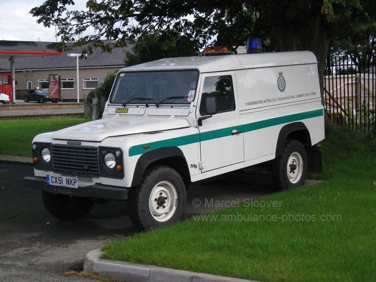 Wales Ambulance Service Landrover CX51NKP