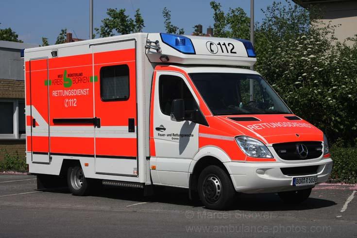 MB Fahrtec ambulance van at Gronau