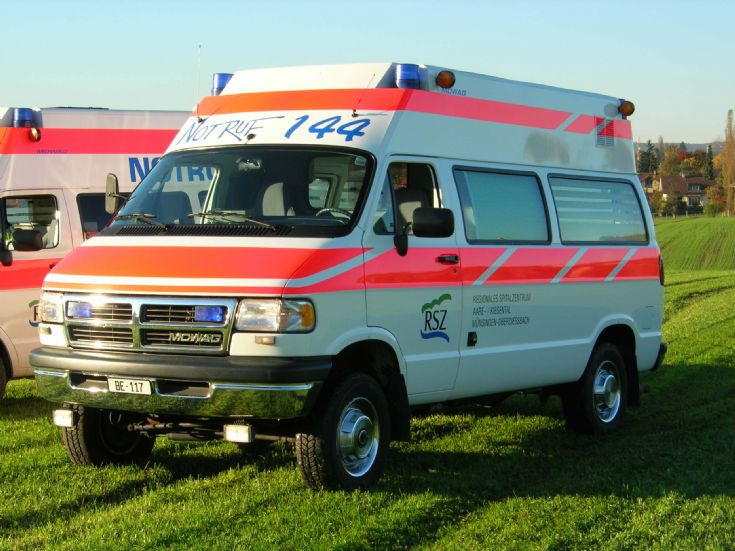 Dodge Ram Mowag Ambulance Switzerland