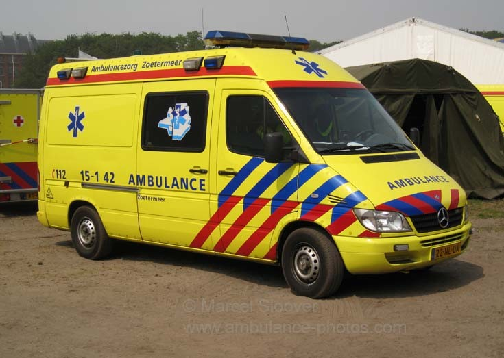 Dutch ambulance service van