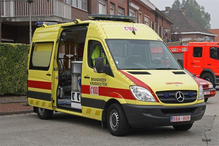 Brandweer Kruishoutem Belgium Ambulance