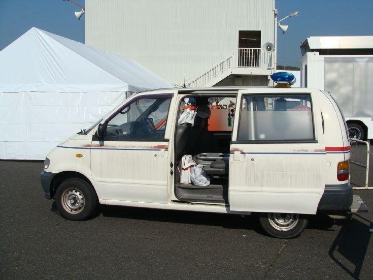 Side view of Toyota Ambulance at Okayama