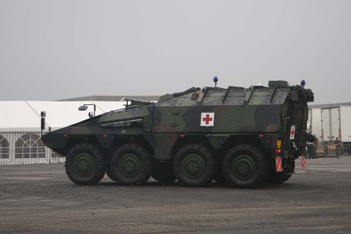 Image of a Royal Dutch Army Boxer Ambulance rear
