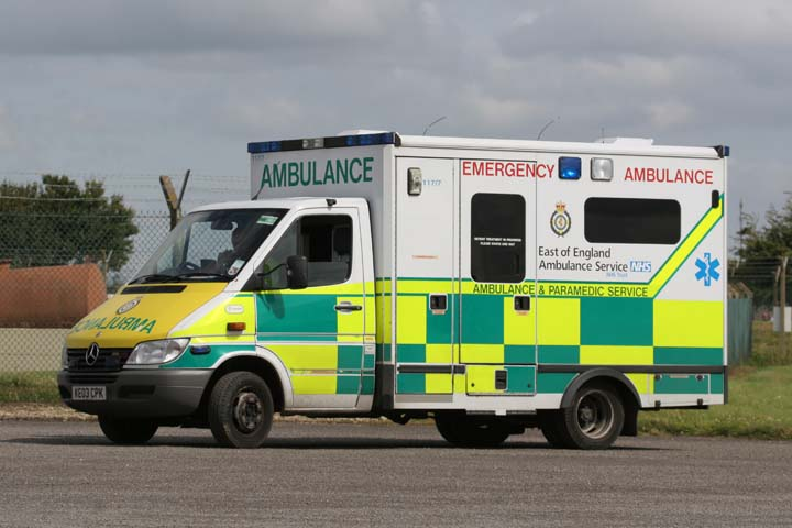 East of England Ambulance service Mercedes Benz