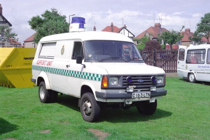 Ford Transit Ambulance Support Unit.