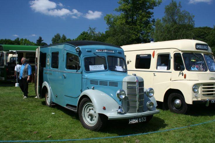 Bedford & Morris ambulances at a show