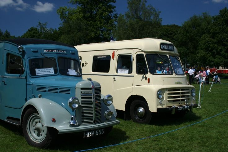 Bedford & Morris old timer ambulances at a show