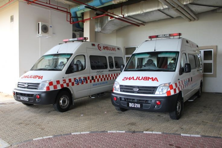 LDV Maxus ambulances on standby