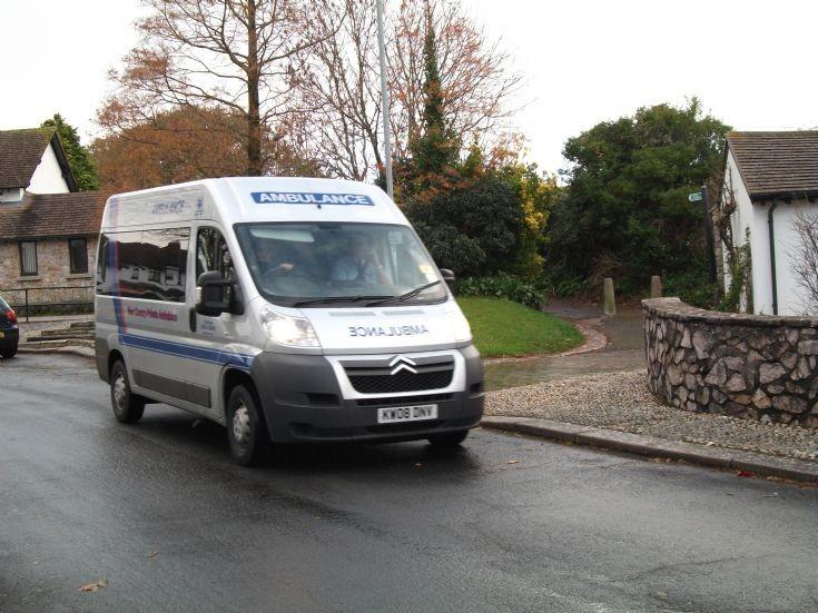 Private ambulance in Dawlish