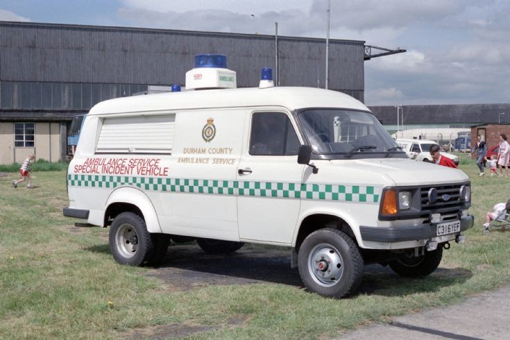 Ford Transit incident unit Durham County 1987.