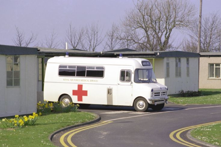 Bedford CF Ambulance at RAF Boulmer in 1988.