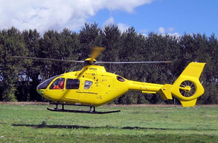 Air Ambulance flying from RAF Benson