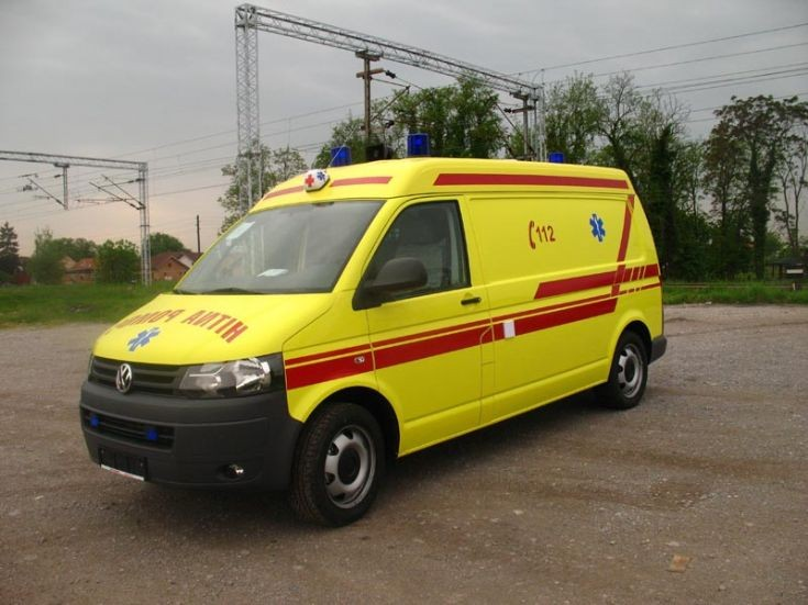 Emergency vehicle in Dubrovnik (Croatia)