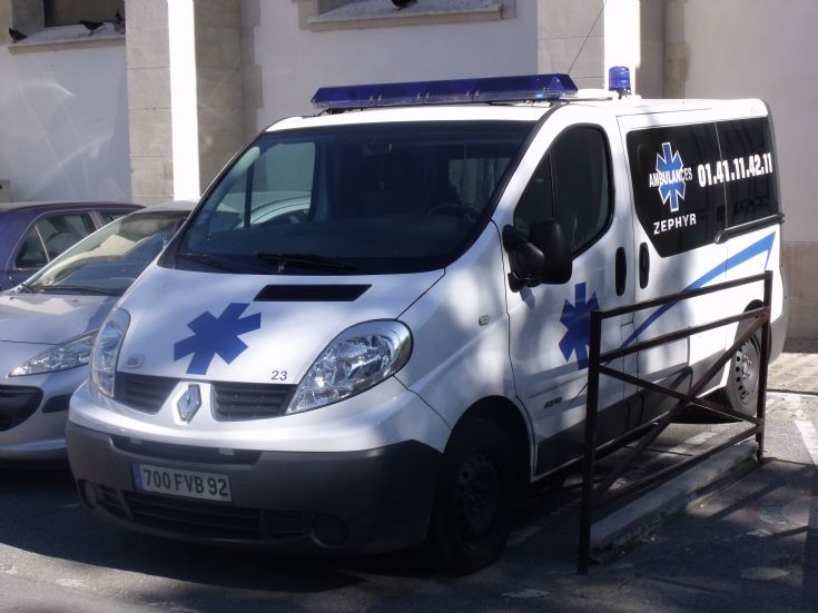 Zéphyr ambulance in France