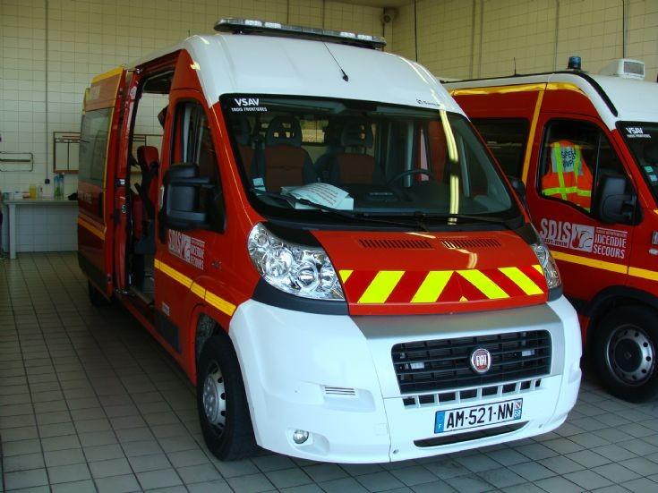 Ambulance FIAT St Louis FD (Haut-Rhin 68) France