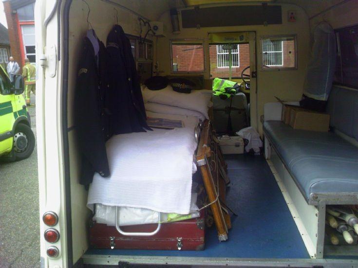 1966 Morris LD/Wadhams Ambulance - inside