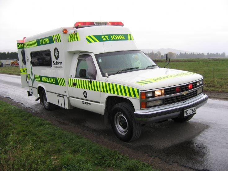 New Zealand Chevrolet PK1768 spare ambulance