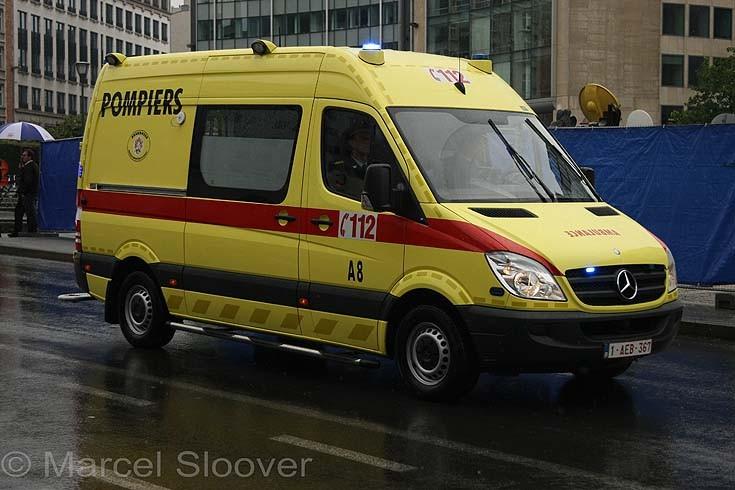 Brussels Fire brigade ambulance