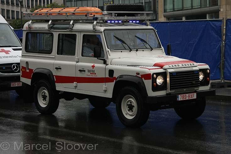 LandRover Belgium Red Cross