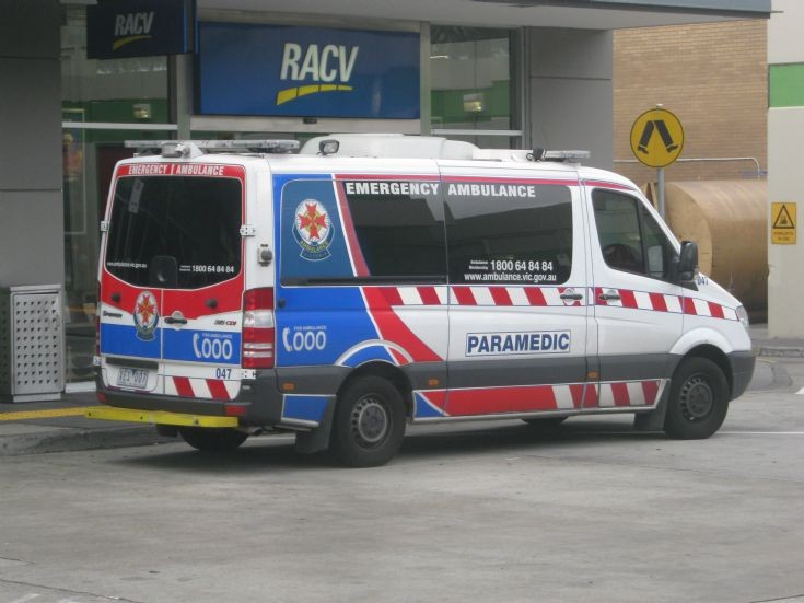 Victoria Mercedes-Benz 315CDI ambulance.