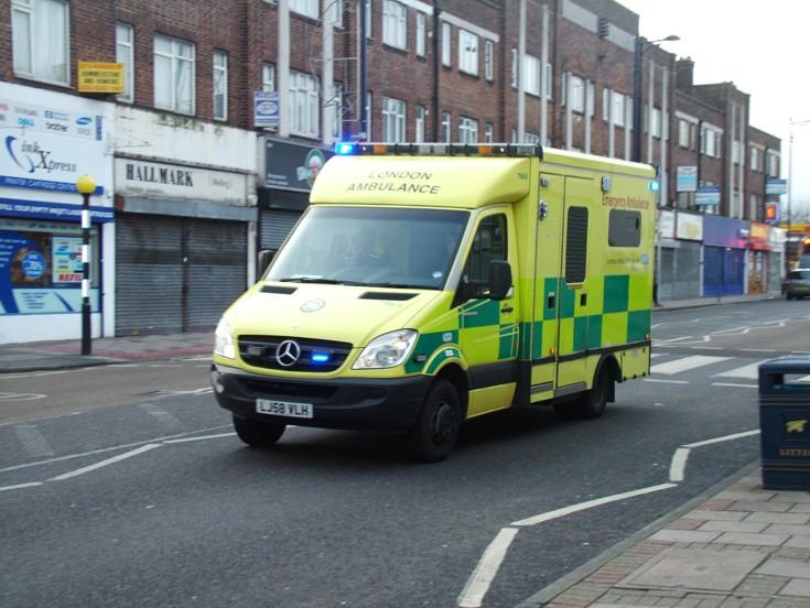 Ambulance at speed