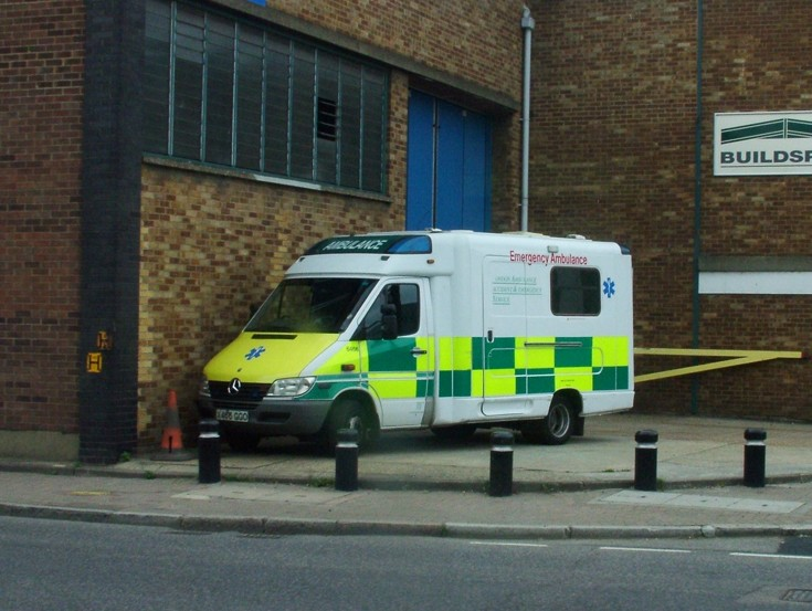Ambulance at Silvertown