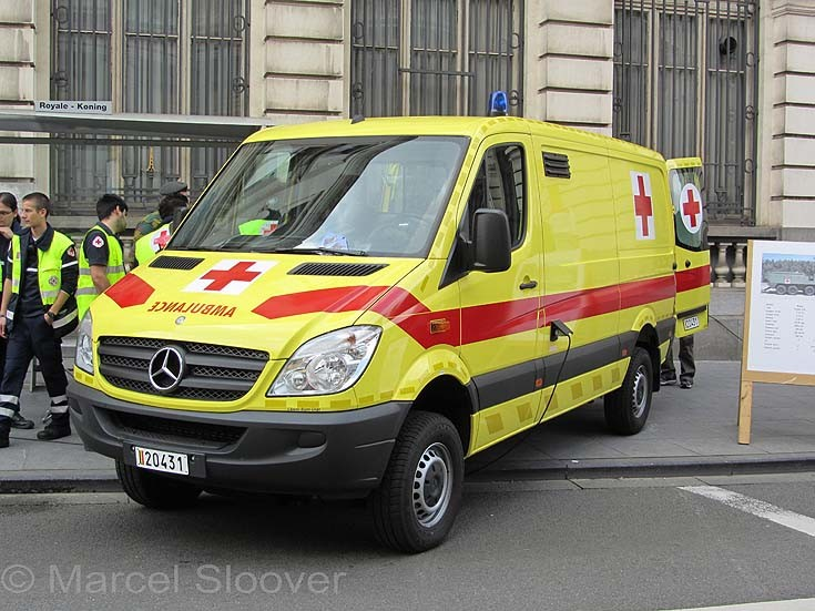 MB ambulance in Brussels