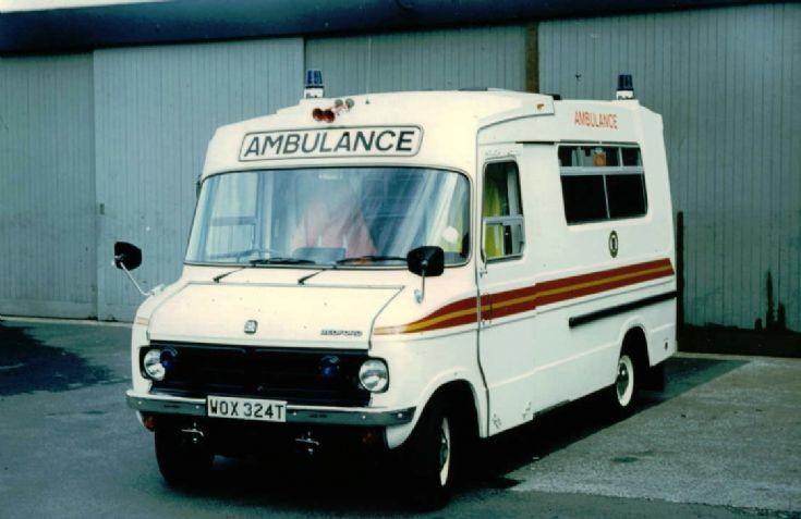 Shropshire ambulance Bedford CF WOX 324T