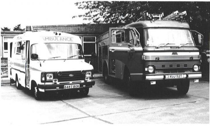 B487 BOK Shropshire ambulance Hanlon Transit
