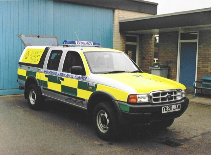 Shropshire ambulance Ford Ranger Y828 JAW