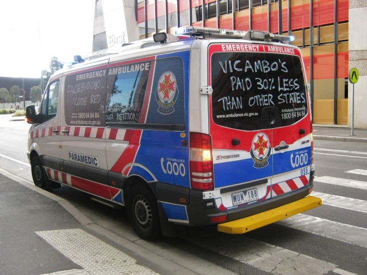 Victoria Mercedes Benz Sprinter Ambulance.