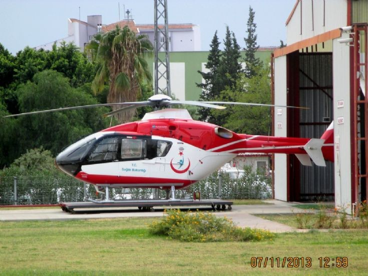 EC-135 at teaching hospital, Antalya