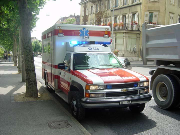 Neuchatel Fire Service Chevrolet Ambulance