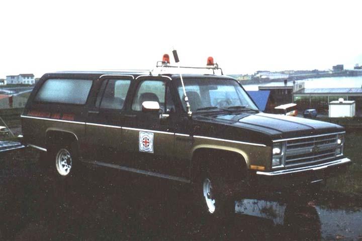 Chevy Suburban Icelandic Maritime rescue