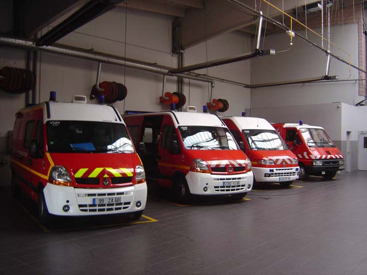 Haut Rhin Fire & Rescue Ambulance line up