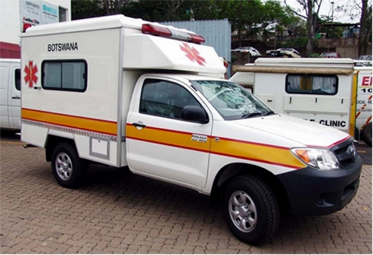 Toyota LC pick-up bodyied Ambulance