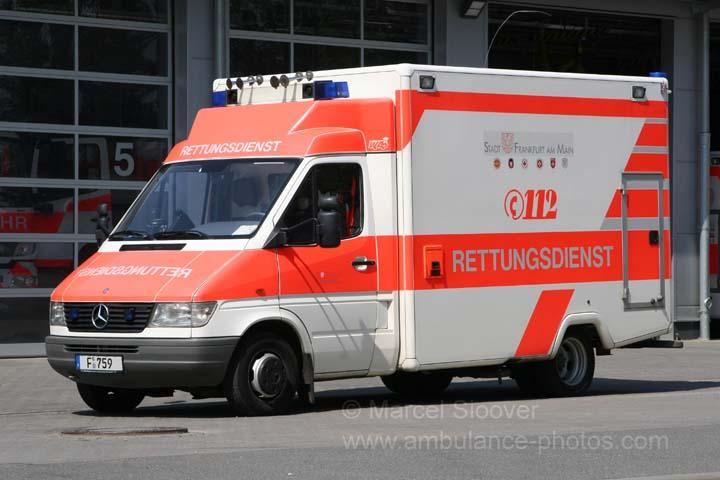 Rettungsdienst Frankfurt Mercedes Sprinter - WAS